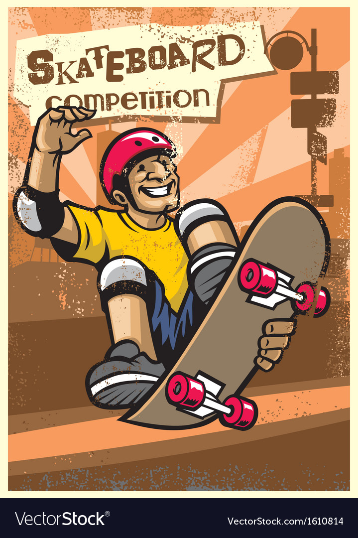 Skateboard competition poster vector | Price: 1 Credit (USD $1)
