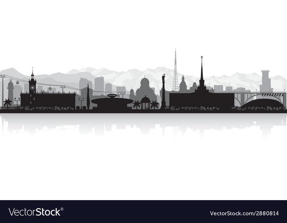 Sochi russia city skyline silhouette vector | Price: 1 Credit (USD $1)