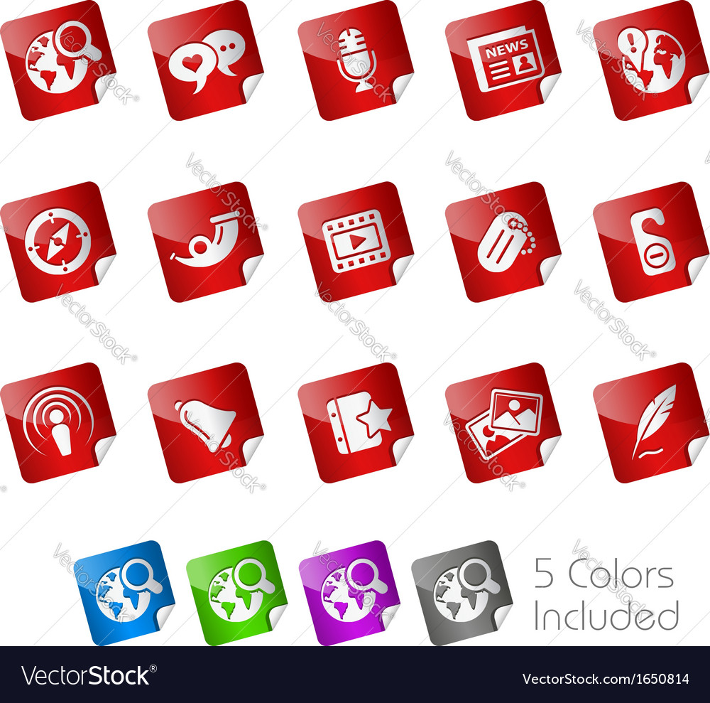 Social media stickers vector | Price: 1 Credit (USD $1)