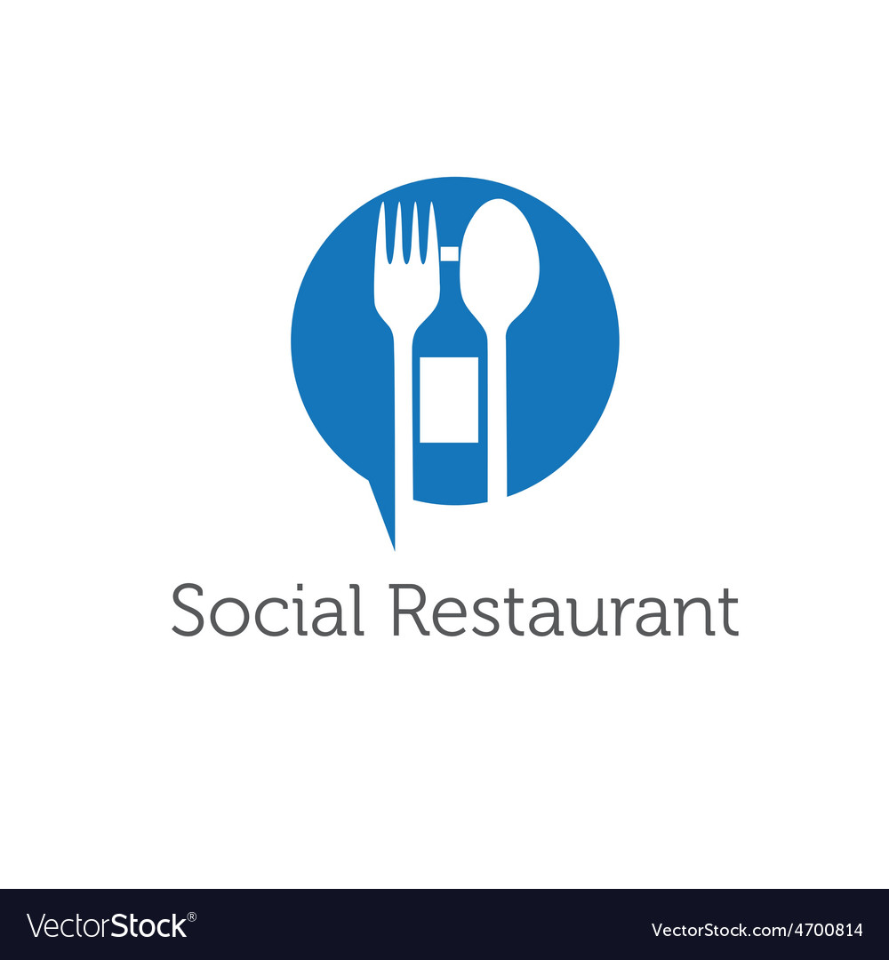 Social restaurant design template vector | Price: 1 Credit (USD $1)