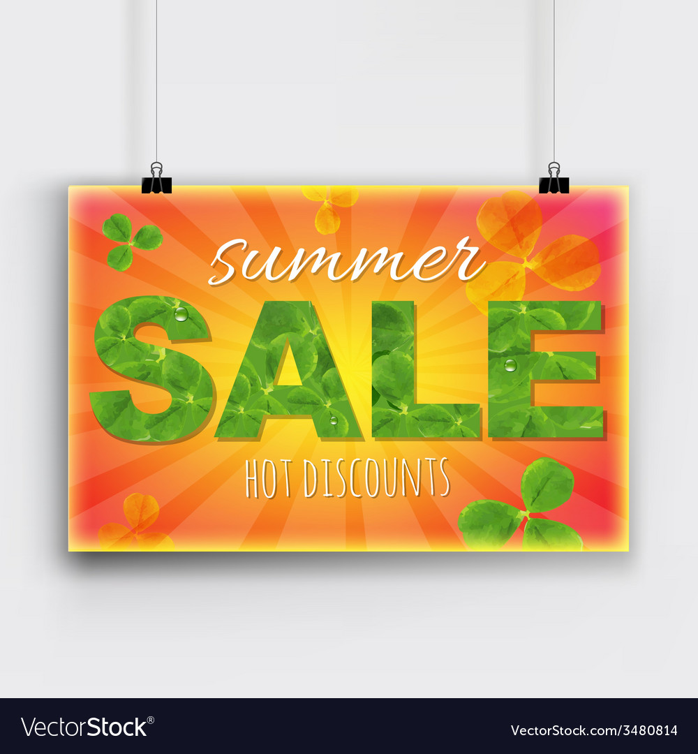 Summer sale banner vector | Price: 1 Credit (USD $1)