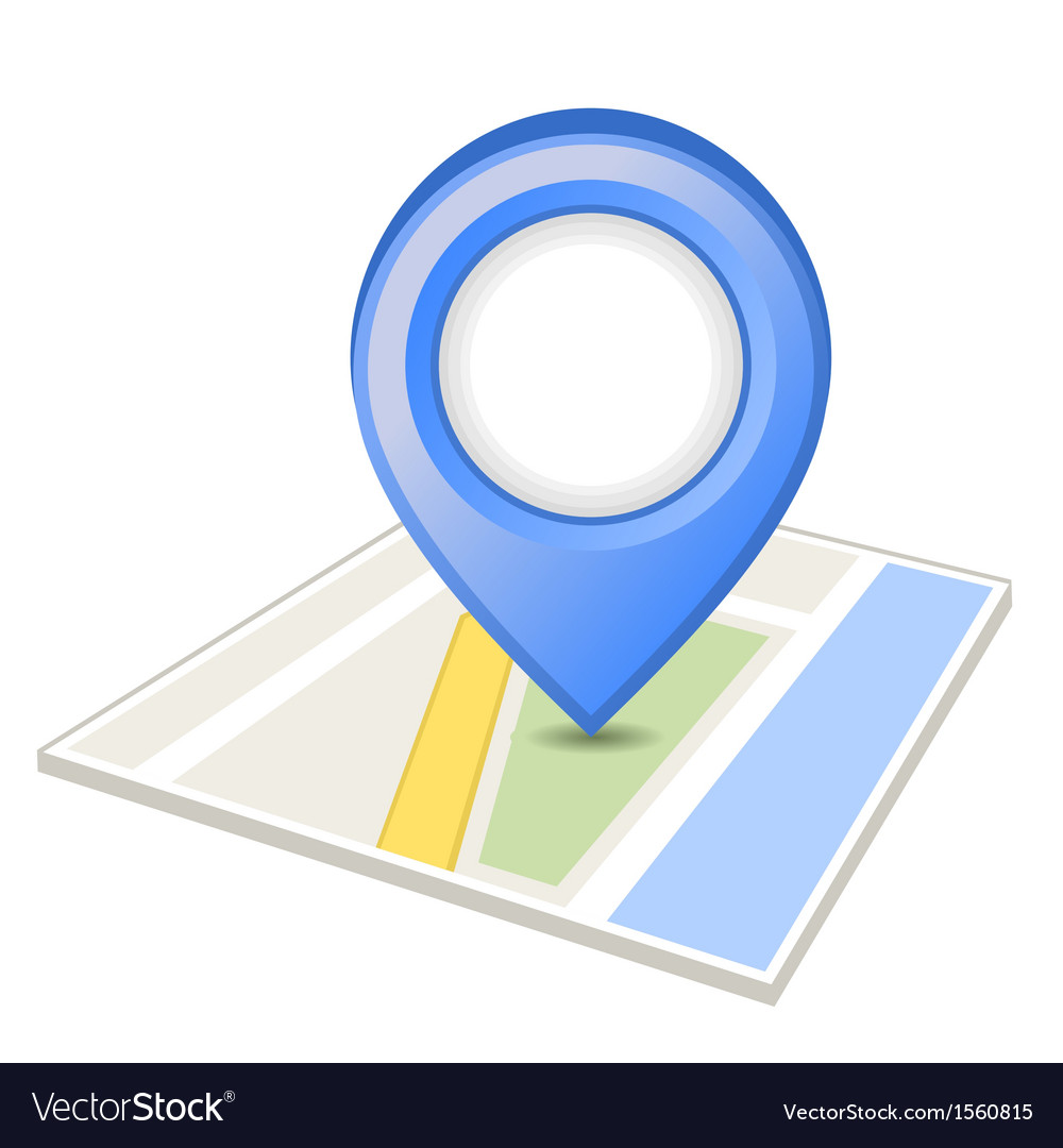 Blue pin on map vector | Price: 1 Credit (USD $1)