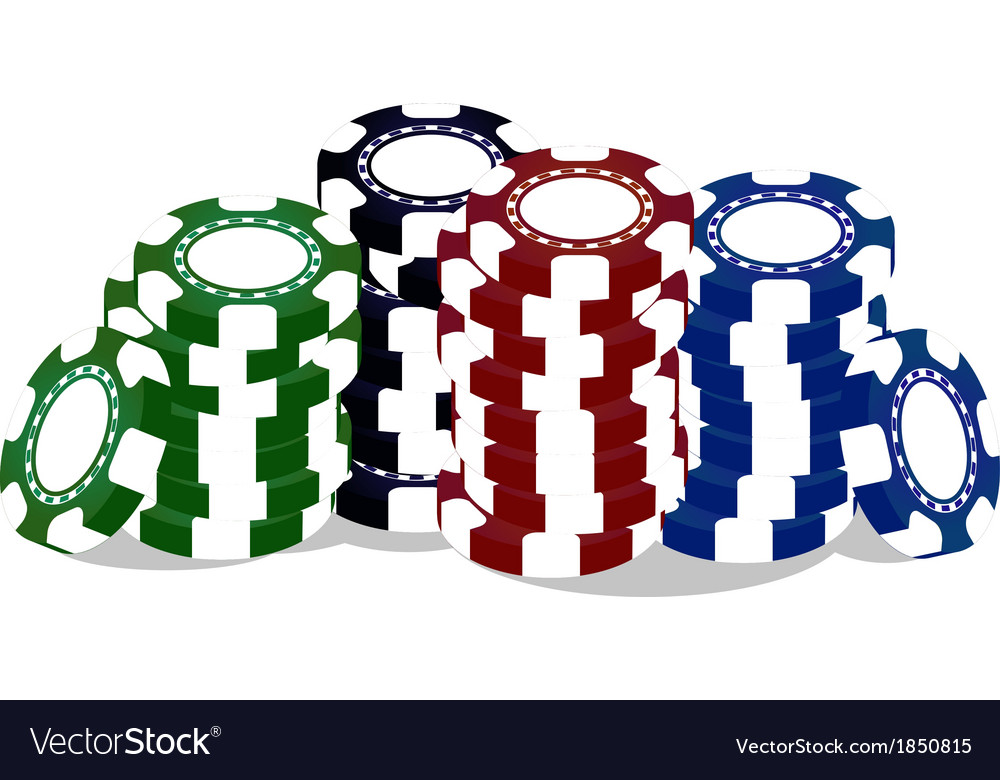 Colorful poker chips vector | Price: 1 Credit (USD $1)