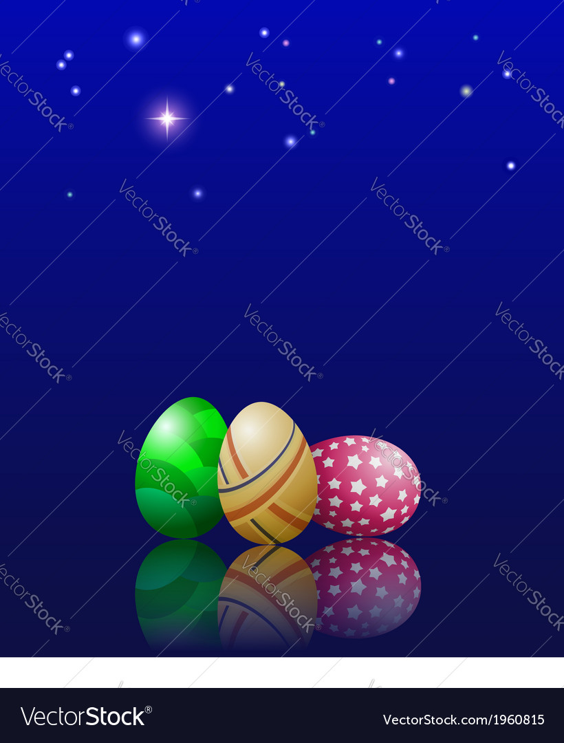 Easter eggs and stars vector | Price: 1 Credit (USD $1)