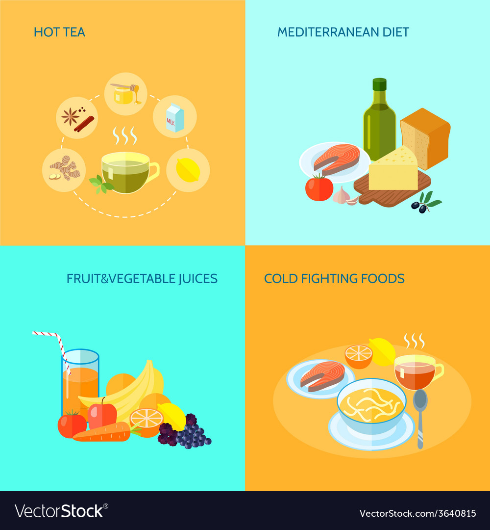 Healthy food flat vector | Price: 1 Credit (USD $1)