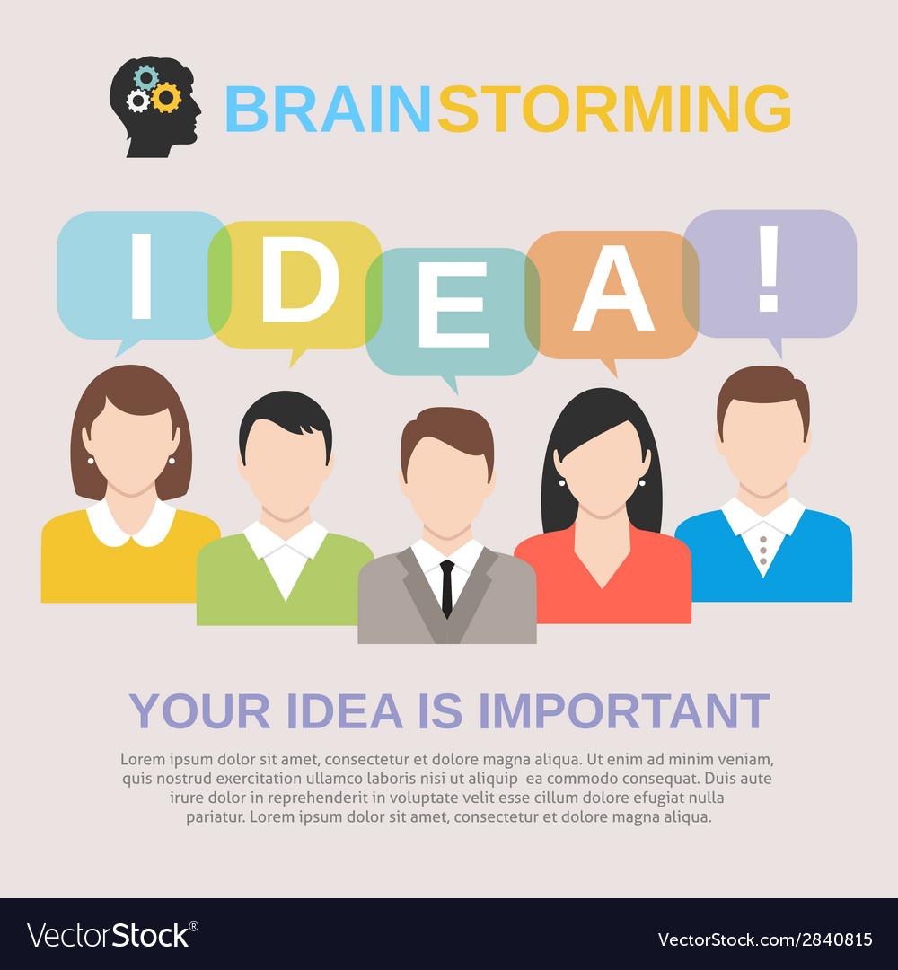 Idea brainstorming concept vector | Price: 1 Credit (USD $1)