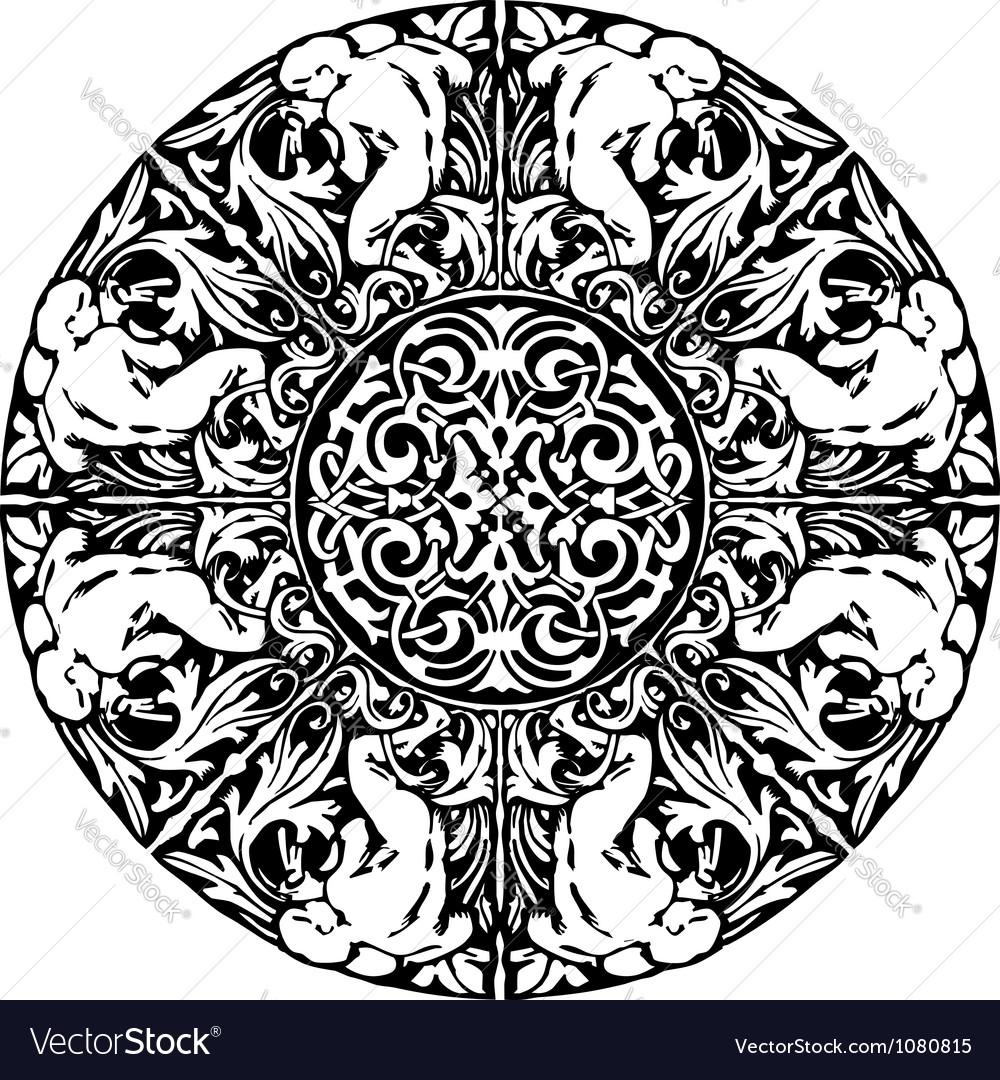 Renaissance seamless pattern vector | Price: 1 Credit (USD $1)