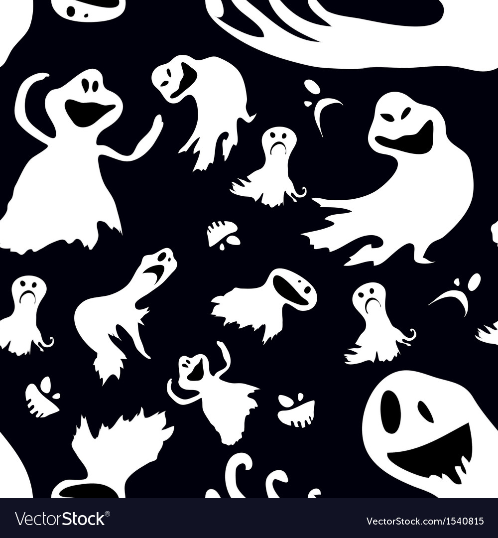 Scary seamless wallpaper vector | Price: 1 Credit (USD $1)