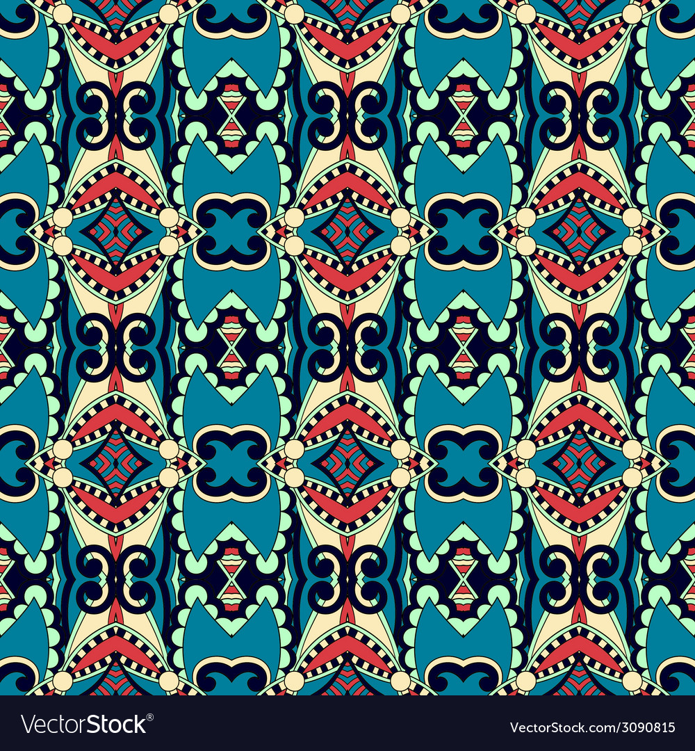 Seamless geometry vintage pattern ethnic style vector | Price: 1 Credit (USD $1)