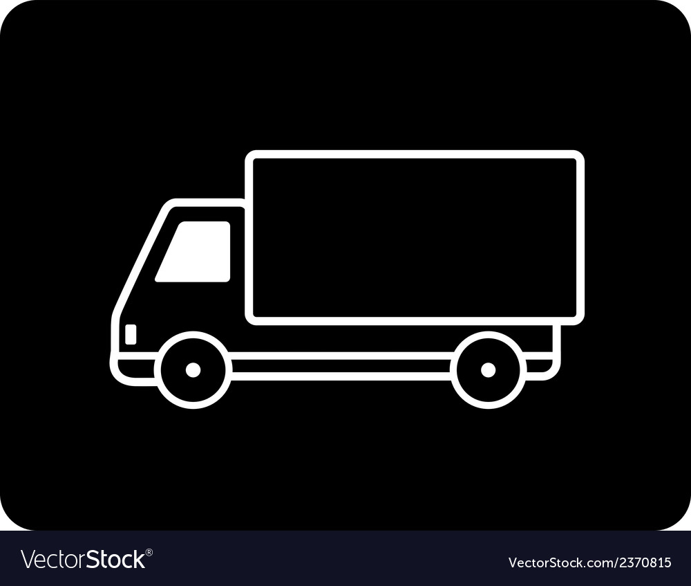 Shipping black truck vector | Price: 1 Credit (USD $1)