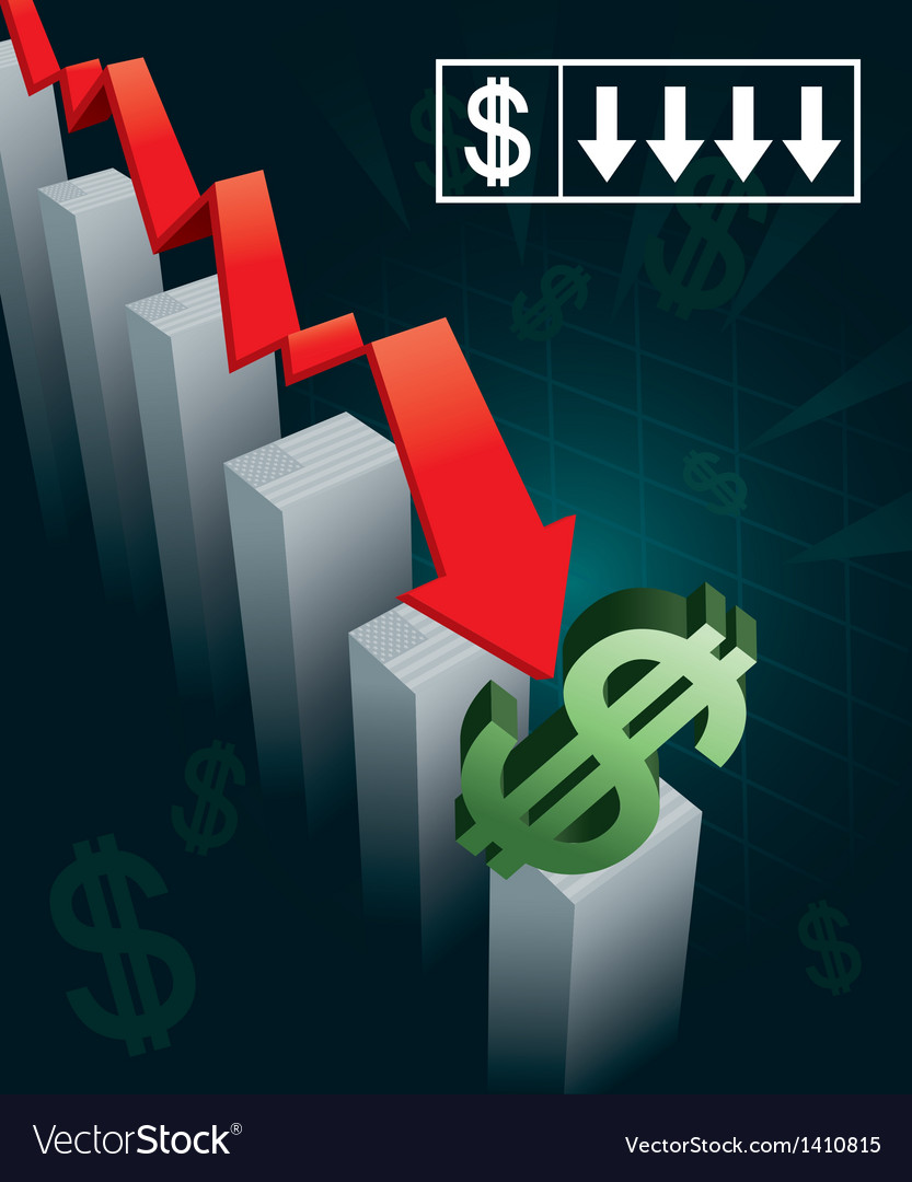 Us currency crash vector | Price: 1 Credit (USD $1)