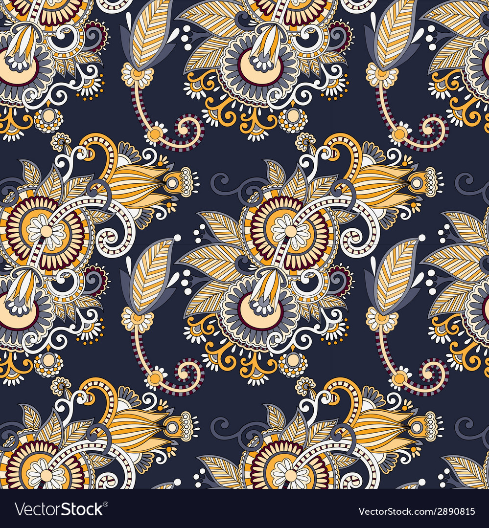 Vintage floral seamless paisley pattern vector   Price: 1 Credit (USD $1)