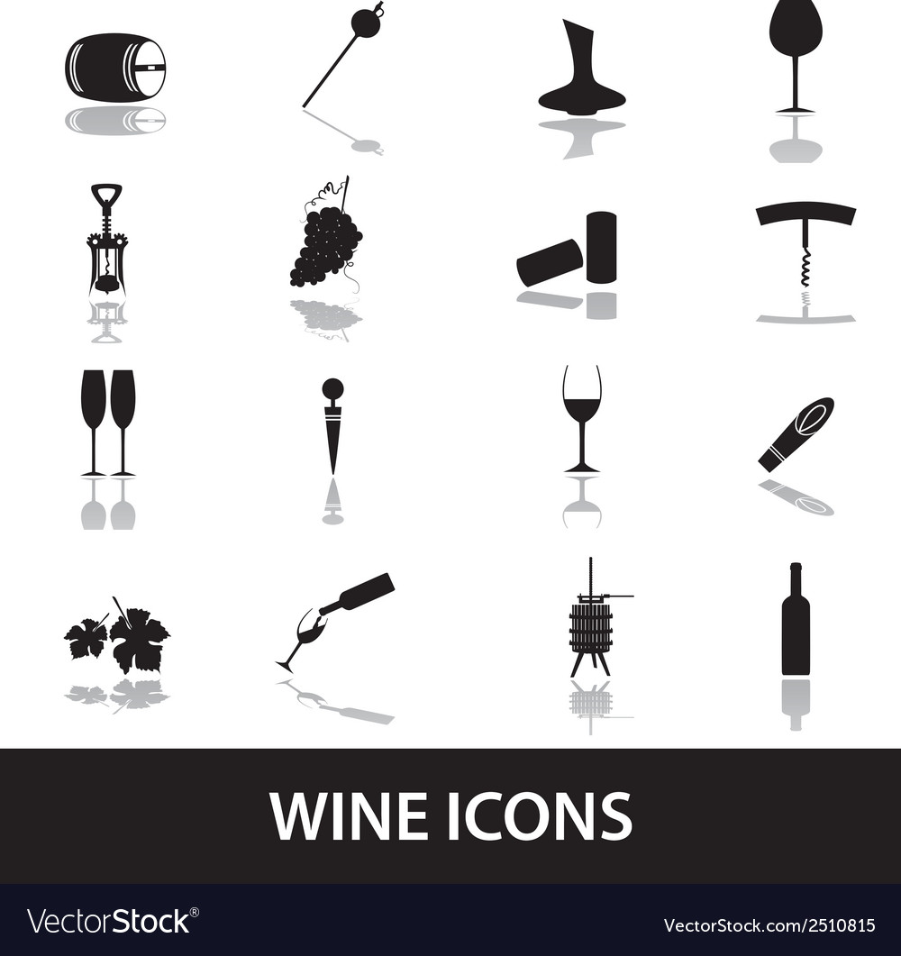 Wine icons eps10 vector | Price: 1 Credit (USD $1)