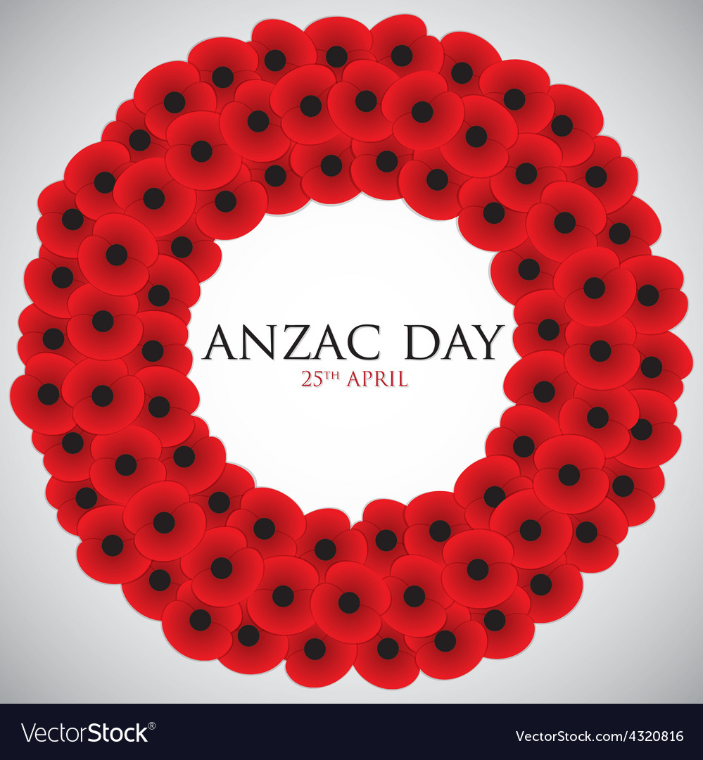 Anzac australia new zealand army corps day card in vector | Price: 1 Credit (USD $1)