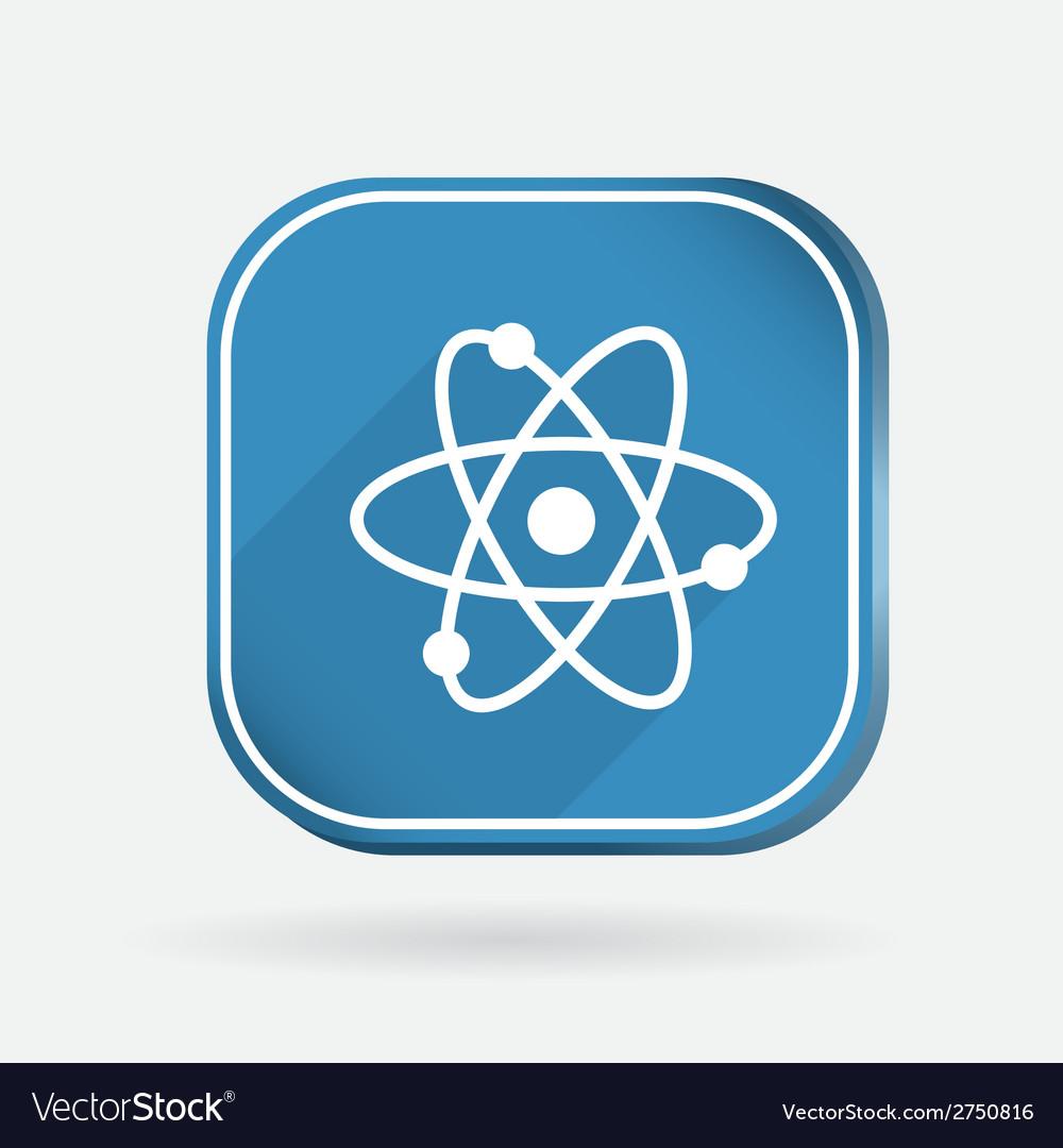 Atom molecule color square icon vector | Price: 1 Credit (USD $1)