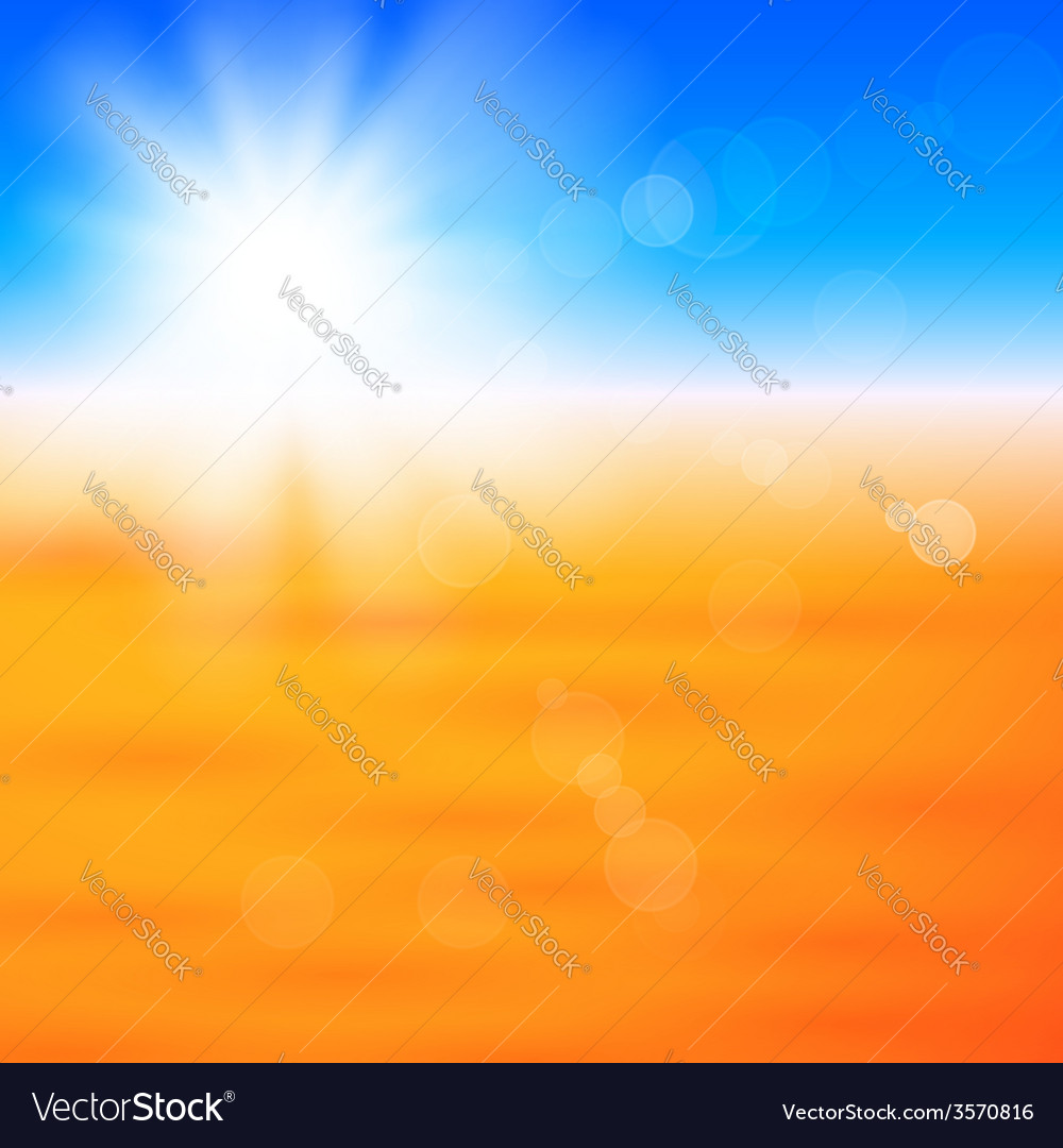 Background with shiny sun over the field vector | Price: 1 Credit (USD $1)