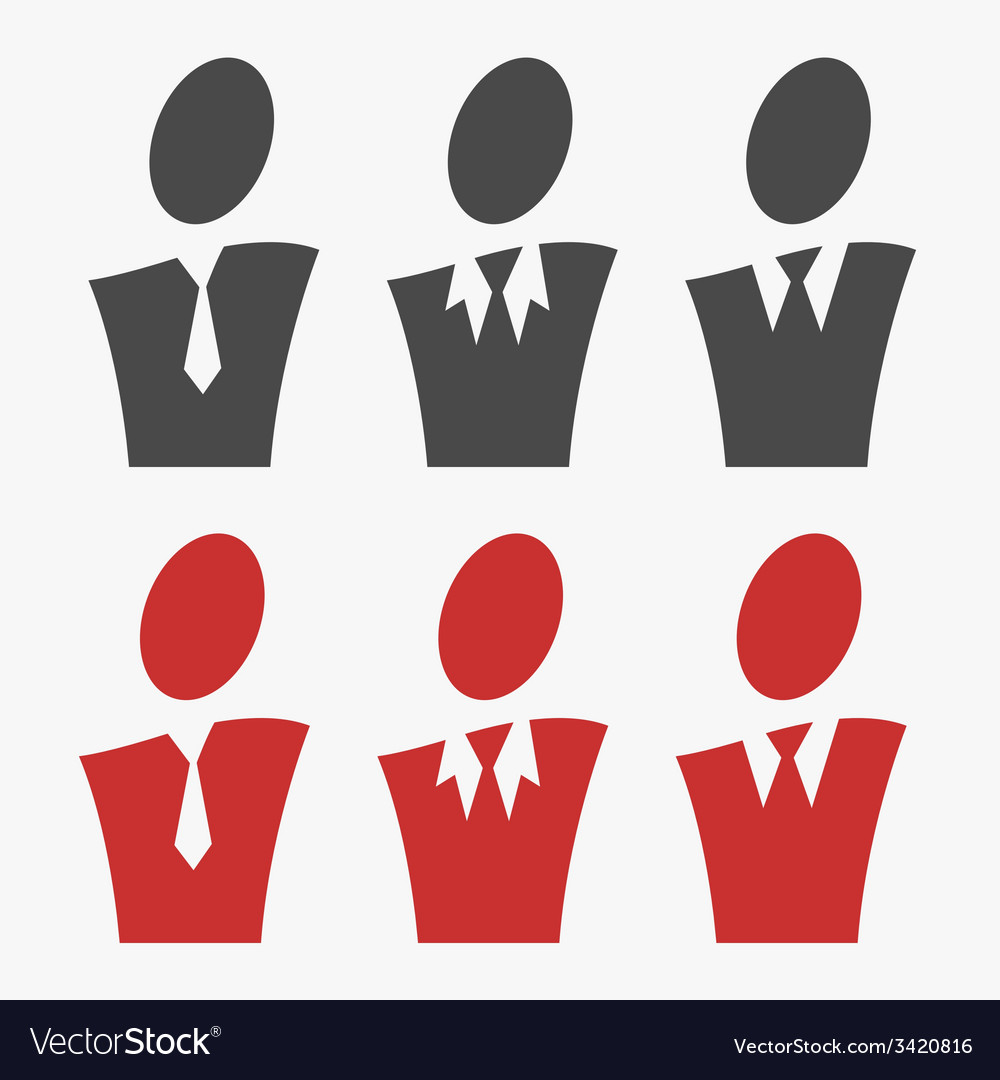 Business avatar set vector | Price: 1 Credit (USD $1)