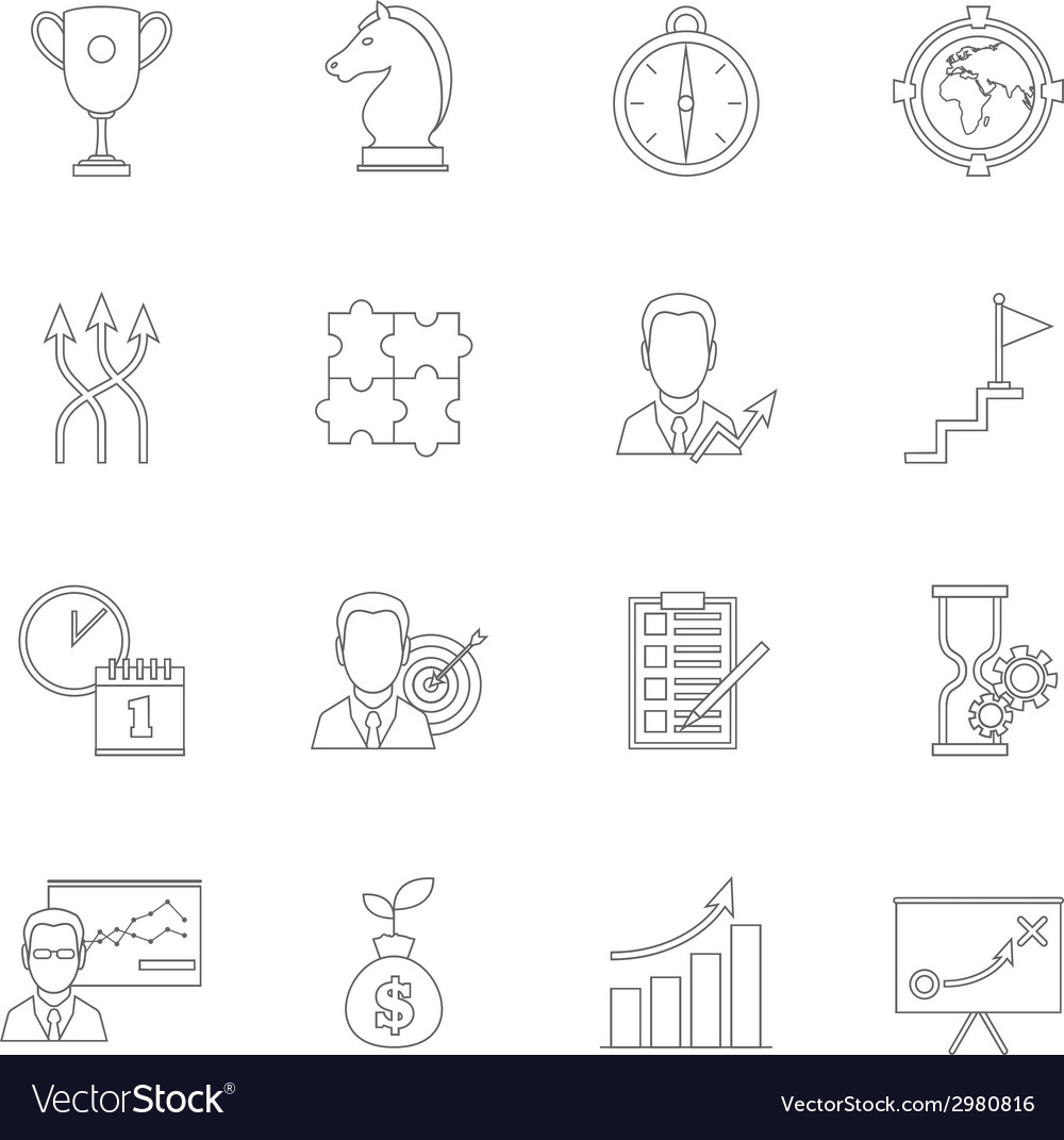 Business strategy planning icon outline vector | Price: 1 Credit (USD $1)