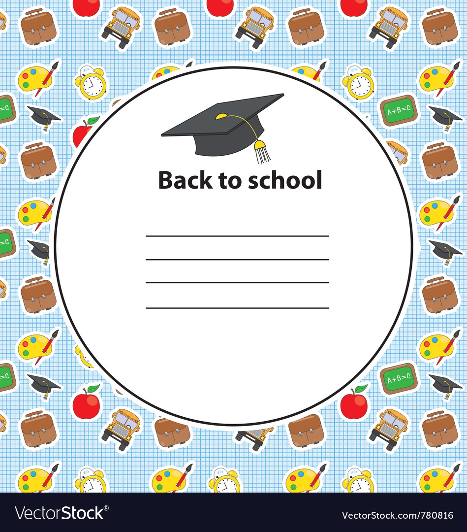 Card graduation party vector | Price: 1 Credit (USD $1)