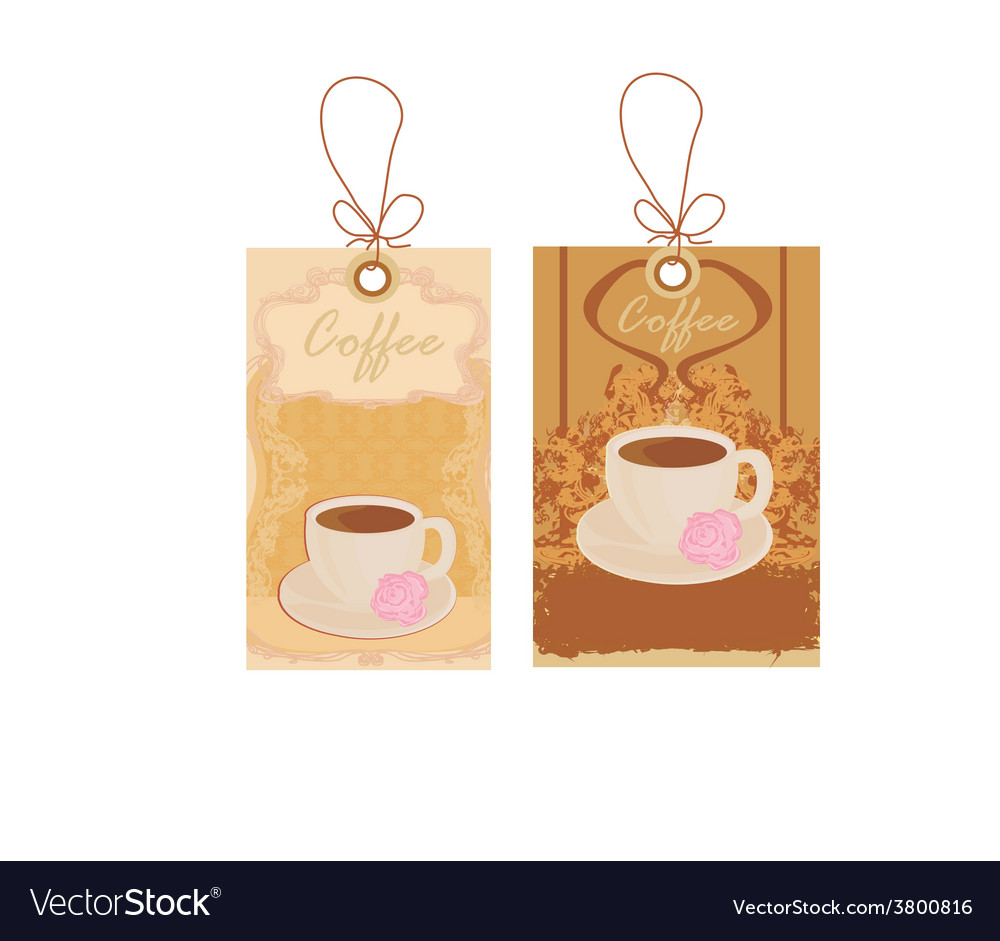 Cup of coffee with abstract design elements set vector | Price: 1 Credit (USD $1)