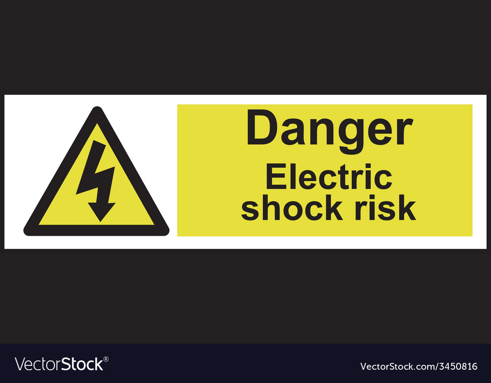 Danger electric shock risk safety sign vector | Price: 1 Credit (USD $1)