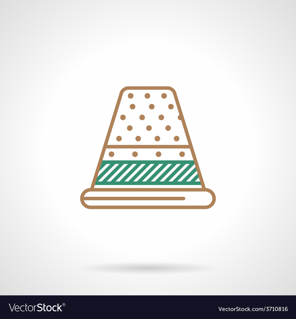 Flat line icon for sewing thimble vector | Price: 1 Credit (USD $1)
