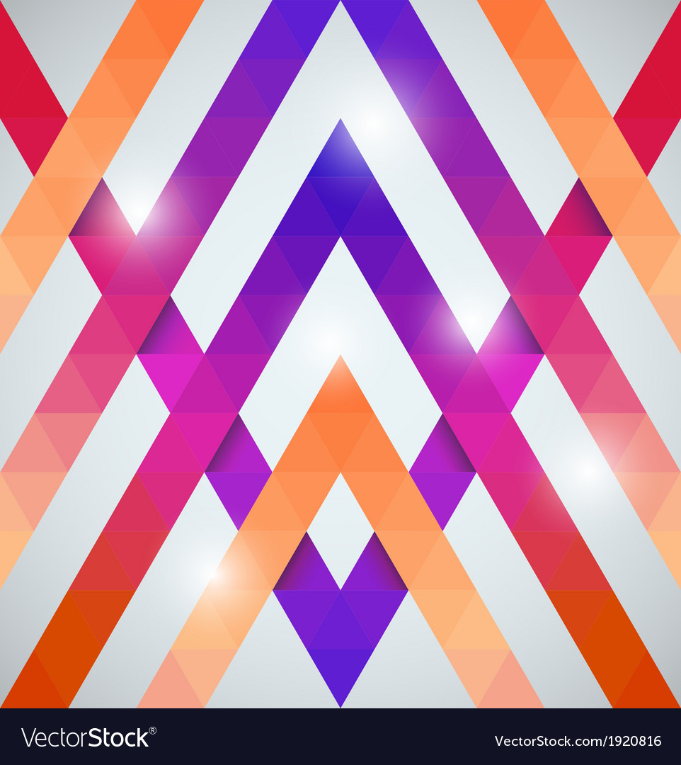 Geometric shining pattern with triangles vector | Price: 1 Credit (USD $1)