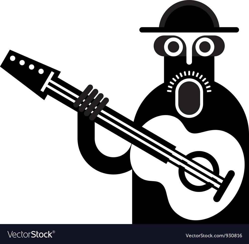 Guitarist vector | Price: 1 Credit (USD $1)