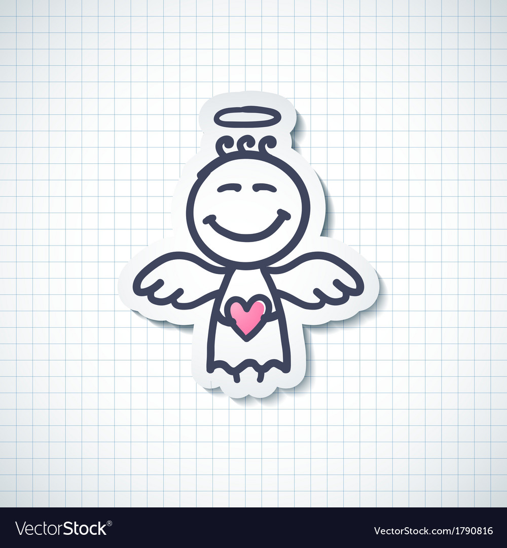 Hand drawn angel vector | Price: 1 Credit (USD $1)