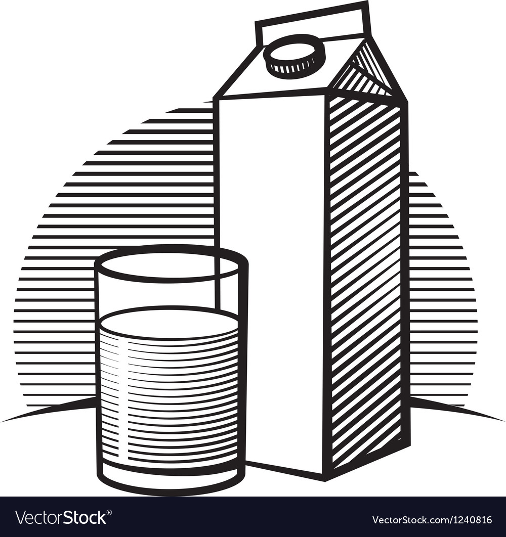 Package of milk vector | Price: 1 Credit (USD $1)