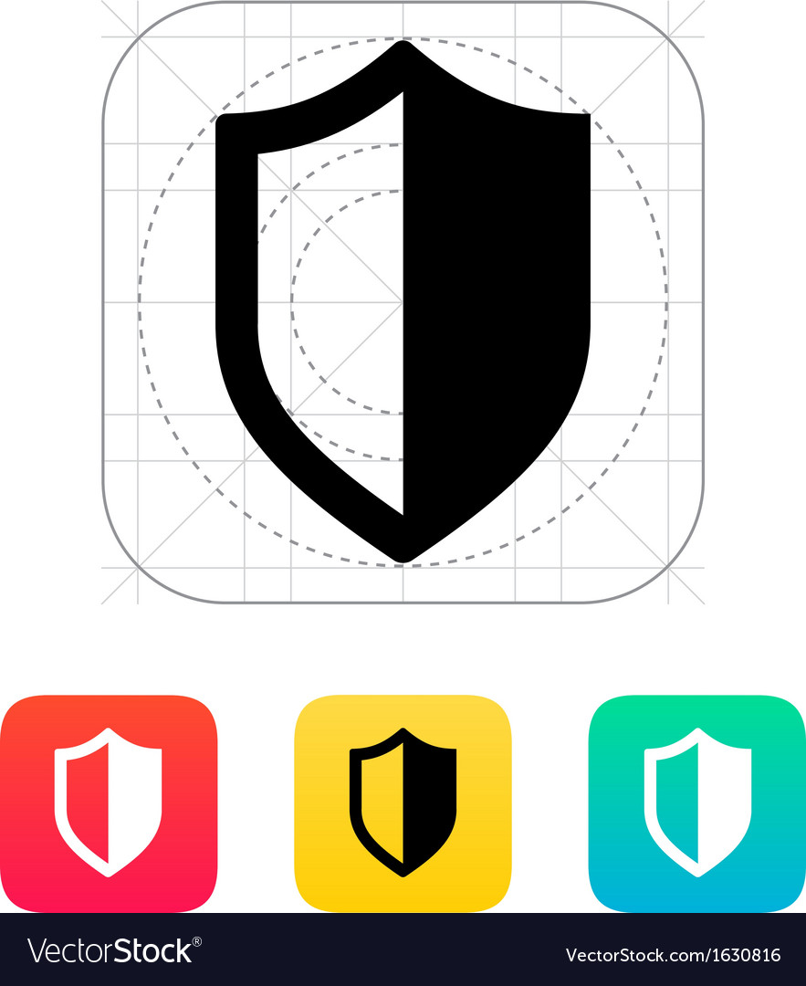 Shield icon vector | Price: 1 Credit (USD $1)