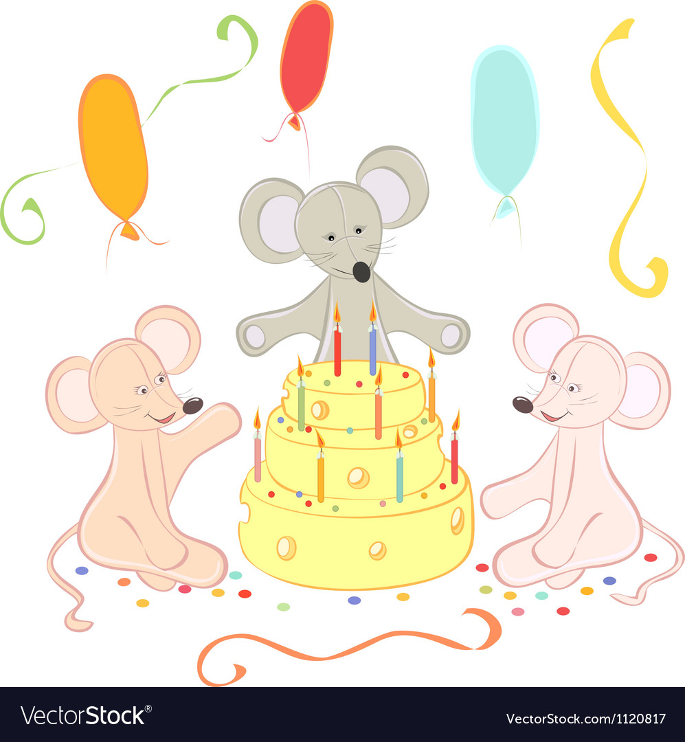 Birthday animals card vector | Price: 1 Credit (USD $1)