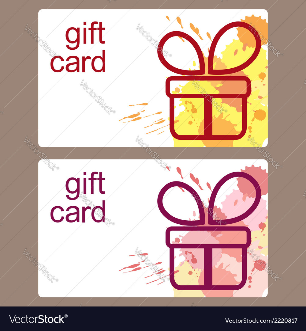 Gift cards templates vector | Price: 1 Credit (USD $1)