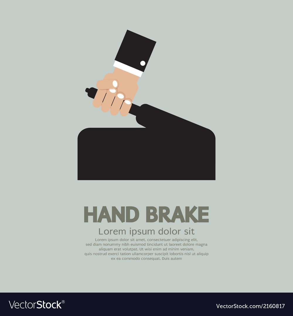 Hand brake vector | Price: 1 Credit (USD $1)