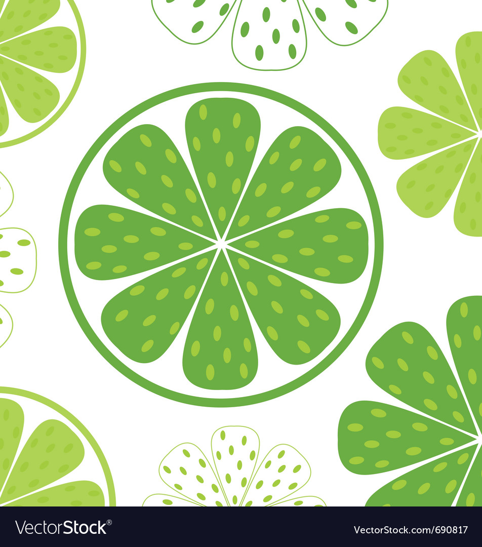 Lime slices pattern vector | Price: 1 Credit (USD $1)