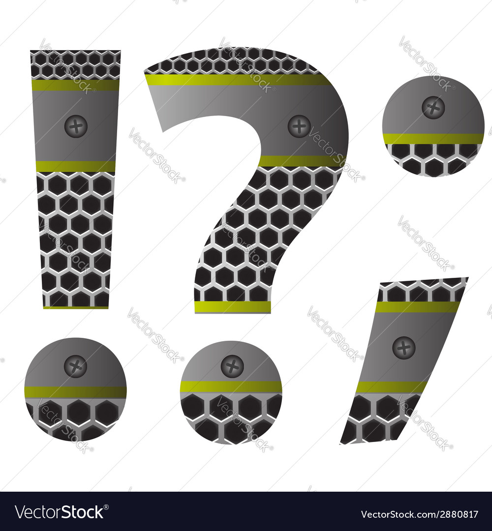 Perforated metal question mark vector | Price: 1 Credit (USD $1)