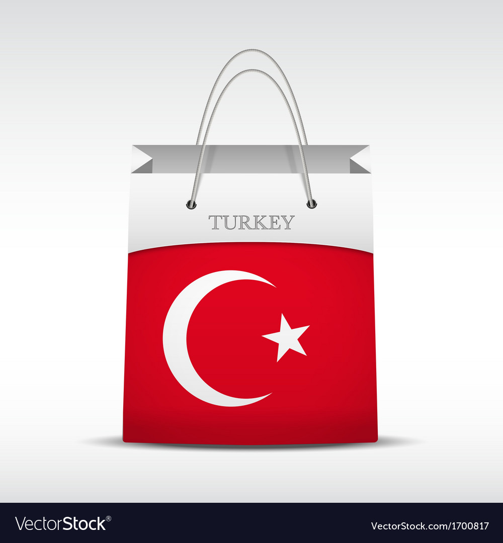 Shopping bag with turkey flag vector | Price: 1 Credit (USD $1)