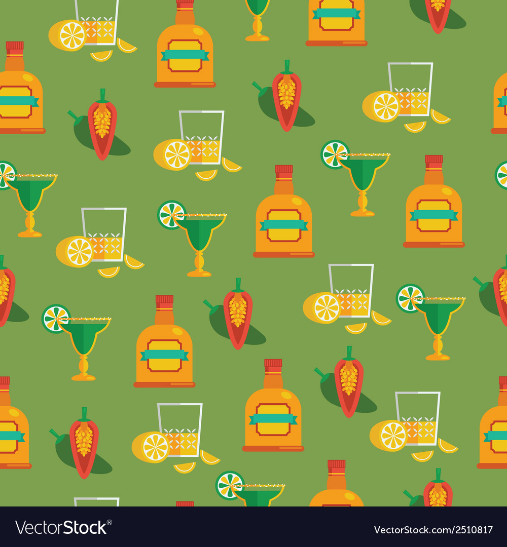 Tequila pattern vector | Price: 1 Credit (USD $1)