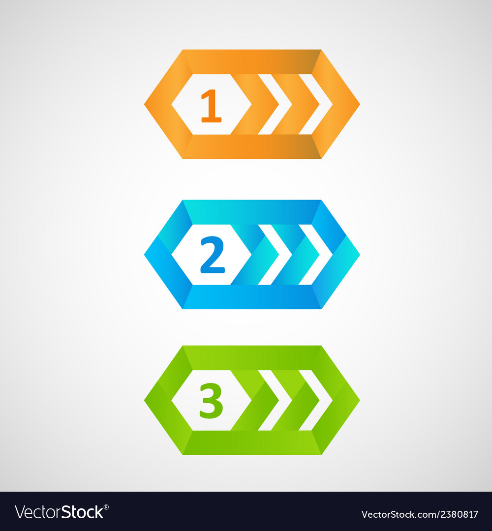 Three colorful pointers eps vector | Price: 1 Credit (USD $1)