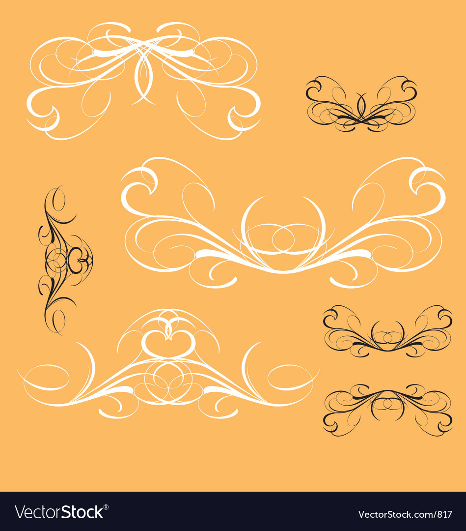 Vintage decorative elements vector | Price: 1 Credit (USD $1)