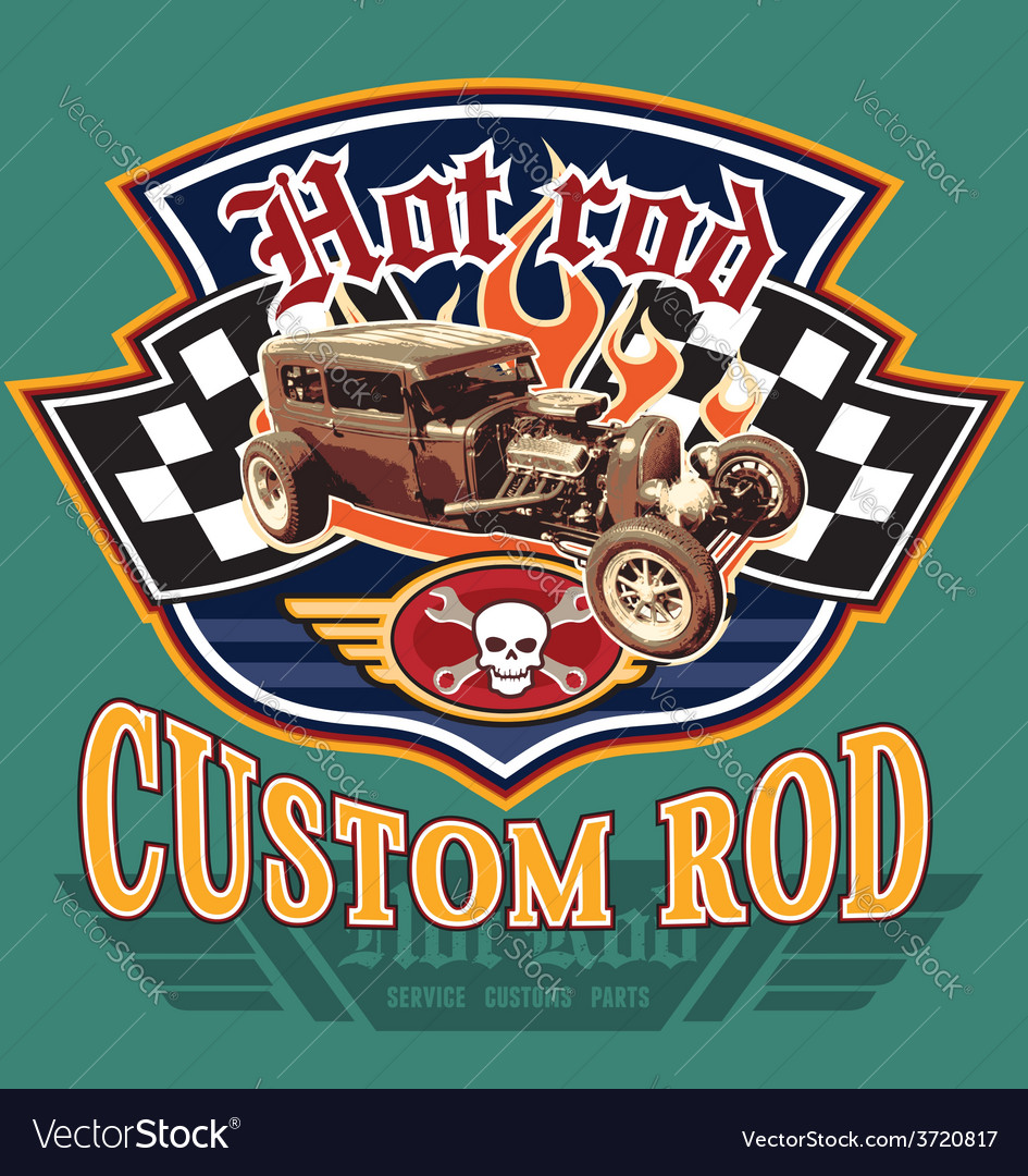 Vintage hot rod garage vector | Price: 3 Credit (USD $3)
