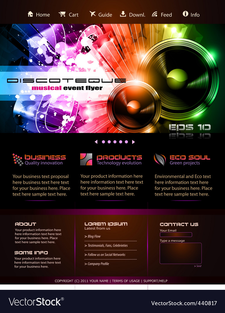 Webtemplate or blog graphics vector | Price: 1 Credit (USD $1)
