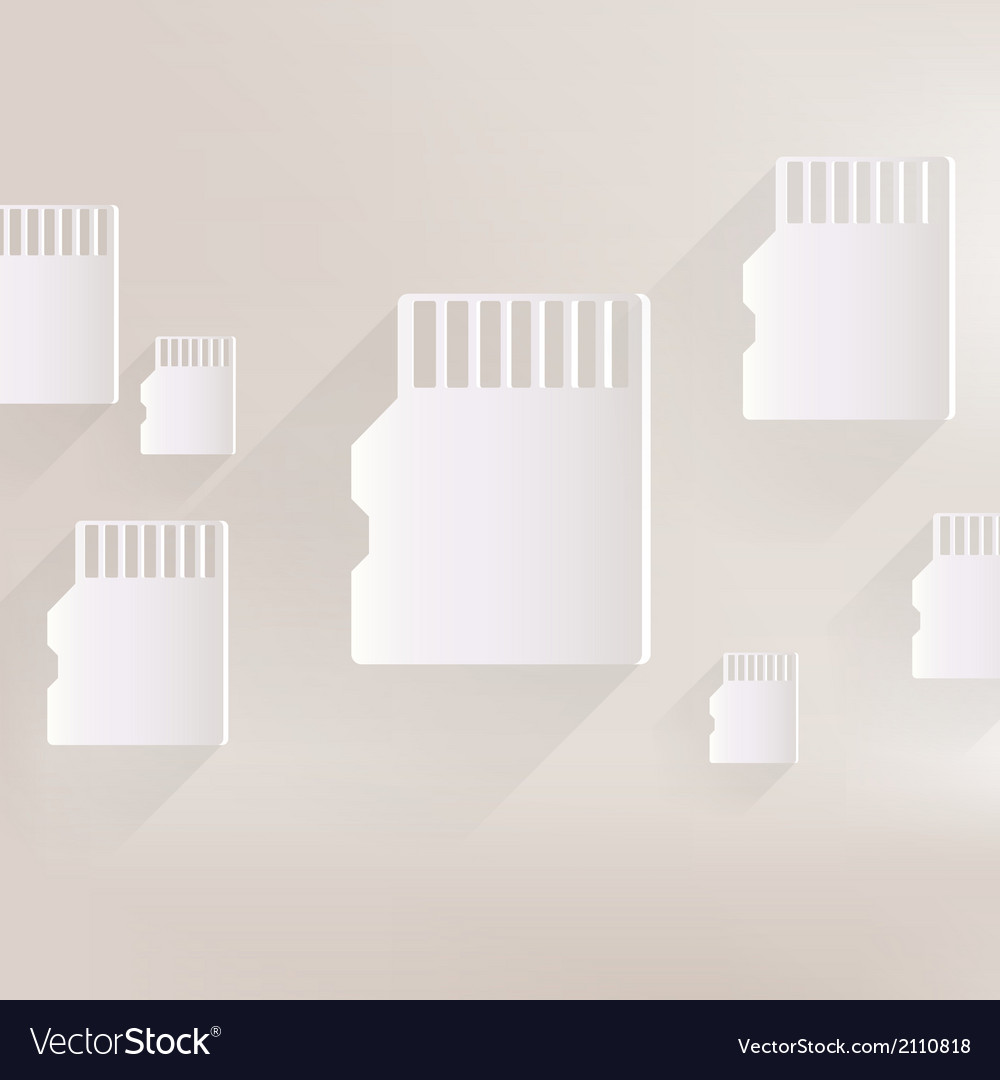 Compact memory card icon vector | Price: 1 Credit (USD $1)