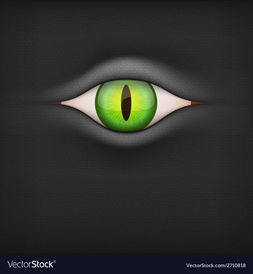 Dark background with animal eye vector | Price: 1 Credit (USD $1)