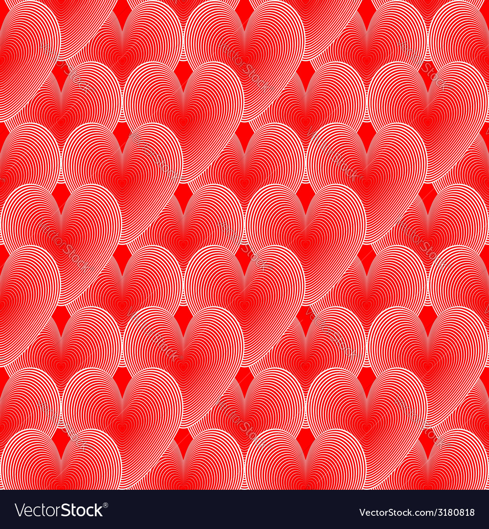 Design seamless colorful heart pattern vector | Price: 1 Credit (USD $1)