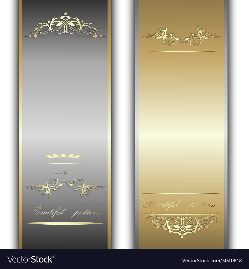 Gold and silver ribbons vector | Price: 1 Credit (USD $1)