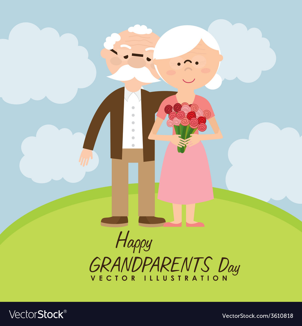 Happy grandparents day vector | Price: 1 Credit (USD $1)