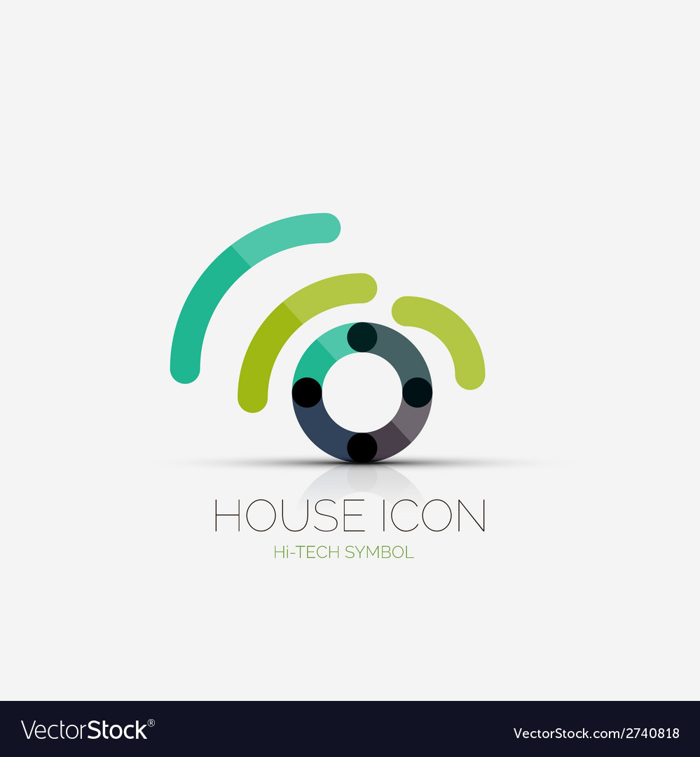 Home wifi company logo business concept vector | Price: 1 Credit (USD $1)