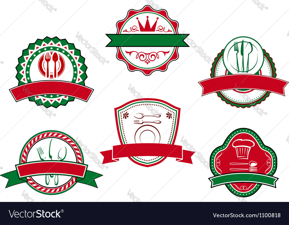 Italian cafe banners and labels vector | Price: 1 Credit (USD $1)