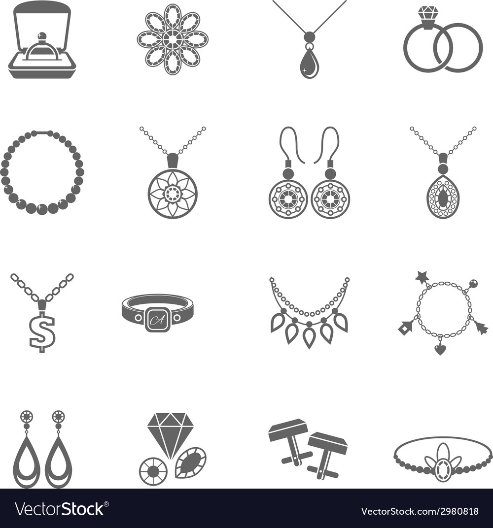 Jewelry icon black vector | Price: 1 Credit (USD $1)
